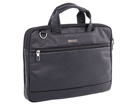 "bugatti Harold Slim Briefcase, 11"" x 3"" x 11.5"", Synthetic Leather, Black"