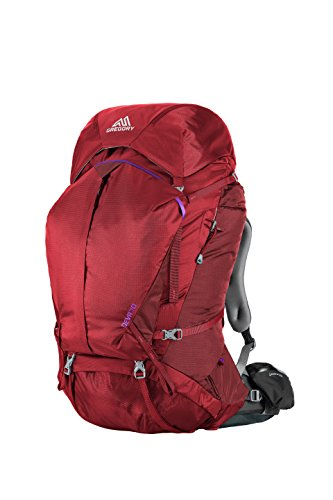 Gregory Mountain Products Deva 70 Liter Women's Multi Day Hiking Backpack | Backpacking, Camping, Travel | Rain Cover, Hydration Sleeve & Daypack, Durable Suspension | Premium Comfort on the Trail, Ruby Red, Small