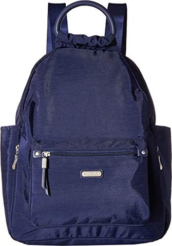 Baggallini All Day Backpack With Rfid Phone Wristlet (Navy)