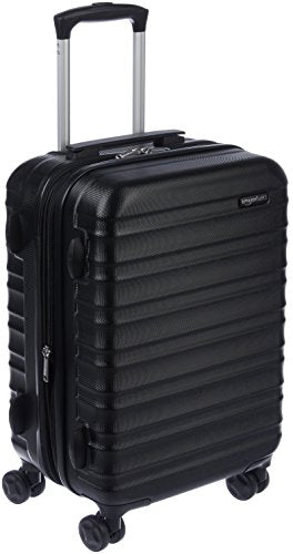 AmazonBasics Hardside Spinner Luggage - 20-Inch, Black