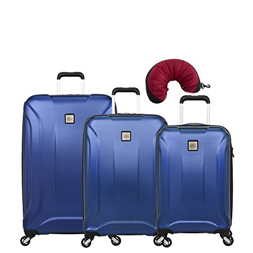 "Skyway Nimbus 3.0 | 4-Piece Set | 20"", 24"" and 28"" Expandable Spinners, Travel Pillow (Cobalt Blue)"
