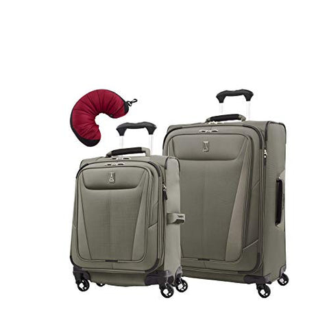 "Travelpro Maxlite 5 | 3-Pc Set | Int'L Carry-On & 25"" Exp. Spinners With Travel Pillow (Slate"