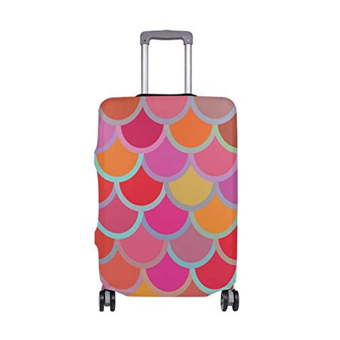 Luggage Cover Colorful Fish Scales Suitcase Protector Travel Luggage 18-32 Inch