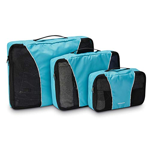 Samsonite 3 Piece Packing Cube Set Travel Tote, Blue, One Size