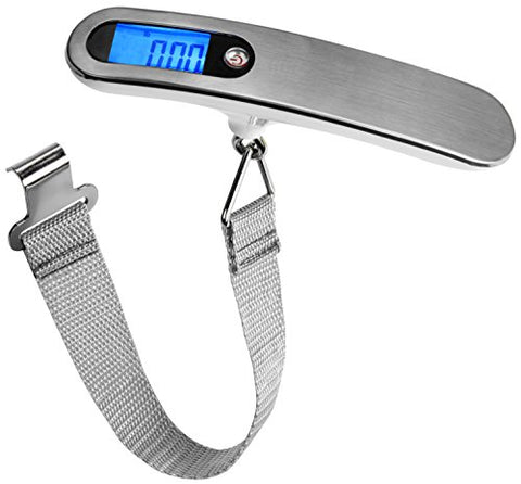 Dy Reier Digital Lcd Light Up Display Luggage Scale, Lightweght Easy Grip, 110 Lb Capacity For
