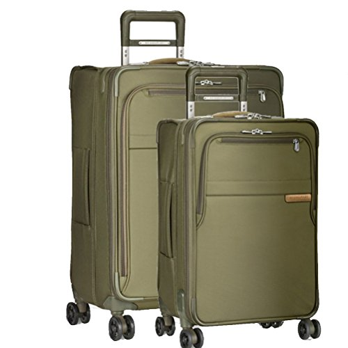 Briggs & Riley Baseline 2 Piece Set | Medium Spinner | Domestic Carry On Spinner (Olive)