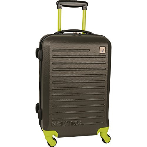 Nautica Tide Beach 21 inch Hardside Spinner Suitcase (Classic Gray)