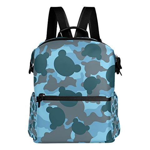 Colourlife Camouflage Head Stylish Casual Shoulder Backpacks Laptop School Bags Travel Multipurpose