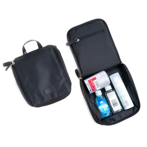 Bey Berk Ballistic Nylon Travel Toiletries Storage Case Black