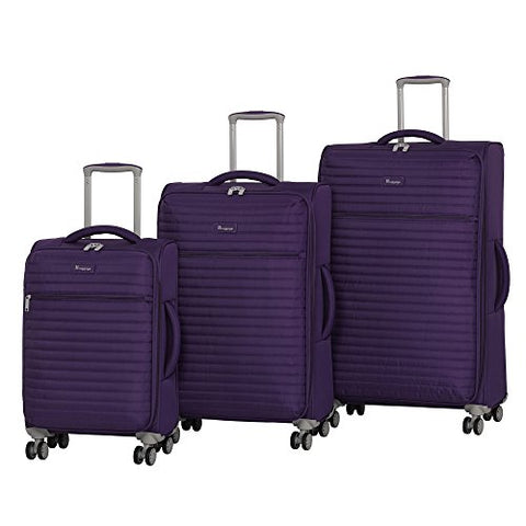 it luggage Quilte 3-Piece Lightweight Expandable Set, Petunia