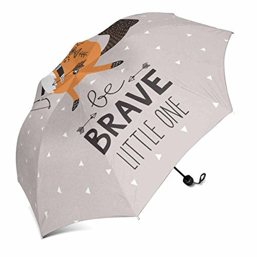 InterestPrint Be Brave Little One for Children with Cute Indian Fox in Cartoon Style Foldable