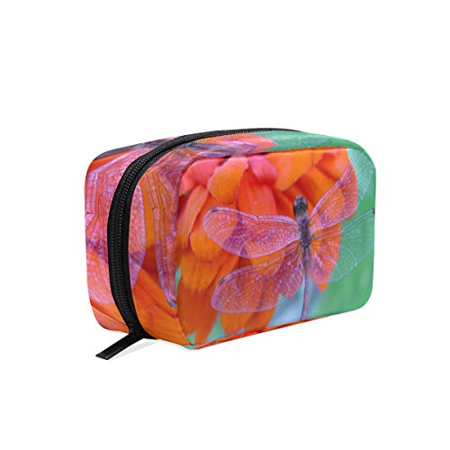Cosmetic Bag Dragonfly Girls Makeup Organizer Box Lazy Toiletry Case
