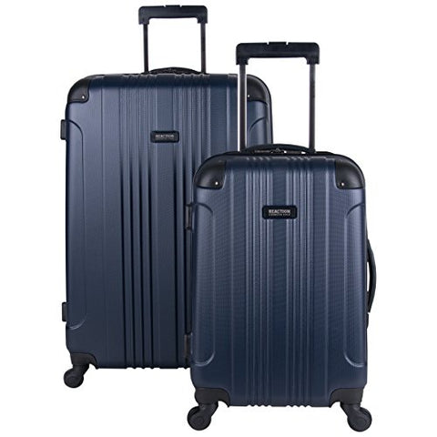 "Kenneth Cole Reaction Out Of Bounds Hardside 4-Wheel Luggage 2-Piece Set 20"" Carry-On And 28"", Navy"