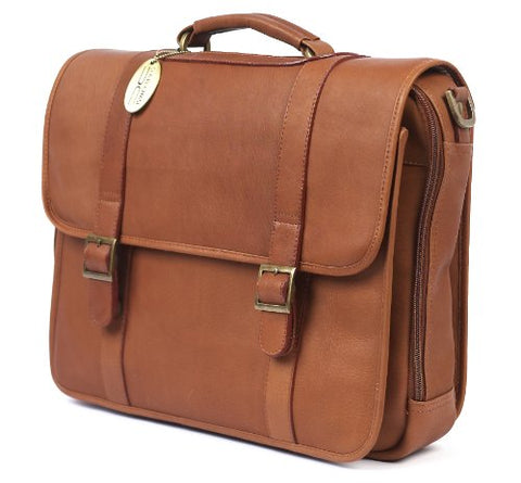 Claire Chase Porthole Computer Briefcase, Saddle, One Size