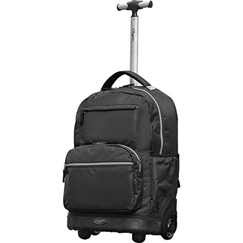 "Olympia Usa Melody 19"" Rolling Backpack (Black)"