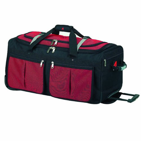 Athalon Luggage 22 Inch 15-Pocket Duffel, Red, One Size
