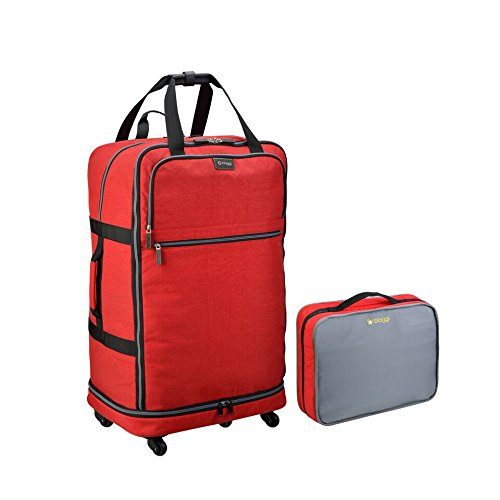 Biaggi Zipsak Micro-Fold Spinner Suitcase - 31-Inch - As Seen on Shark Tank - Red