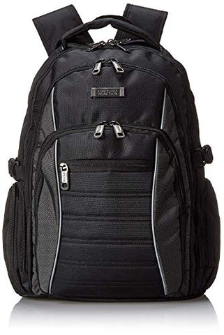 "Kenneth Cole Reaction No Looking Back 1680d Polyester Triple Compartment 17.3"" Laptop Backpack,"