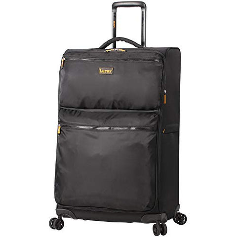 Lucas Ultra Lightweight Midsize Softside 24 Inch Expandable Luggage With Spinner Wheels (24In,