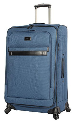 "Nicole Miller New York Coralie Collection 24"" Expandable Upright Luggage Spinner (Blue)"