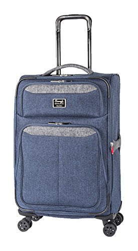 "Sammy'S Soft Goods Co. Arthur Expandable 24"" Suitcase, Black/Navy"