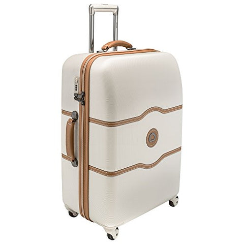 Delsey Luggage Chatelet 24 Inch Spinner Trolley (One size, Cream/Tan)