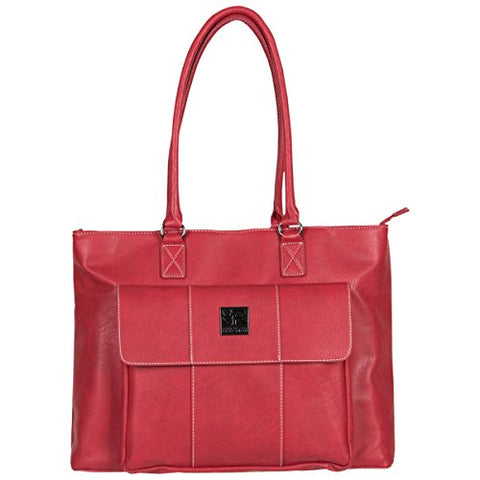 Kenneth Cole Reaction Women's Casual Fling Ladies Tote Laptop, Dark Red