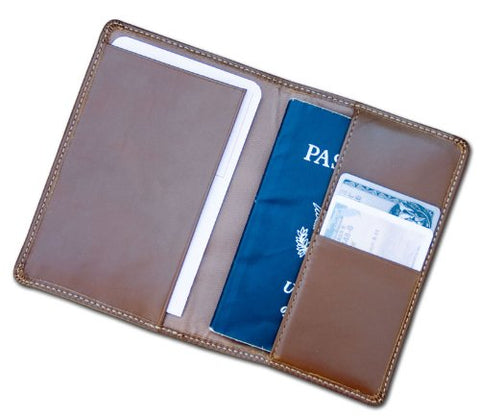 Dacasso Leather Passport Holder, Rustic Brown (A3242)