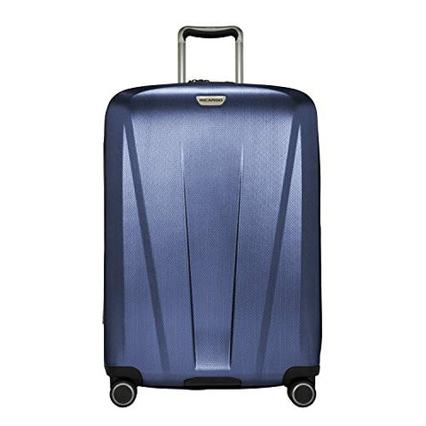 a15d2ee8bc Ricardo Beverly Hills San Clemente 2.0 26-Inch Checked Suitcase (Slate Blue)