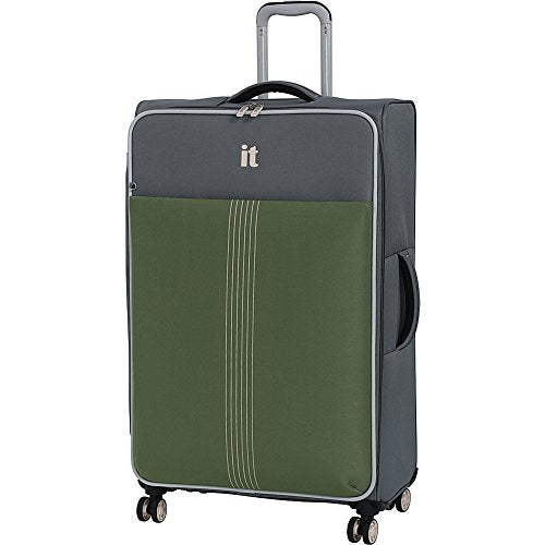 "It Luggage 31.3"" Filament 8 Wheel Lightweight Expandable Spinner, Steel Gray/Loden Green"