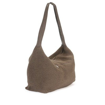 THE SAK Women's Sport Crochet Large Duffel Hobo Bag,Taupe