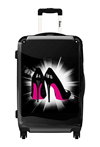 Ikase Hardside Spinner Luggage Pink Soles