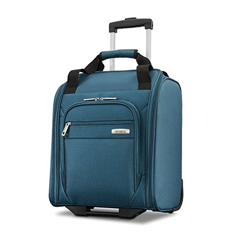 Samsonite Advena Underseat Carry On Luggage with Wheels, Teal