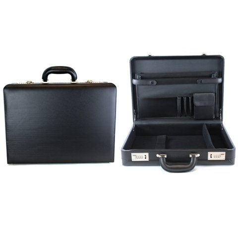 "Heritage Travelware Vinyl Single Compartment 17.3"" Laptop Case with Secure Combination Lock"