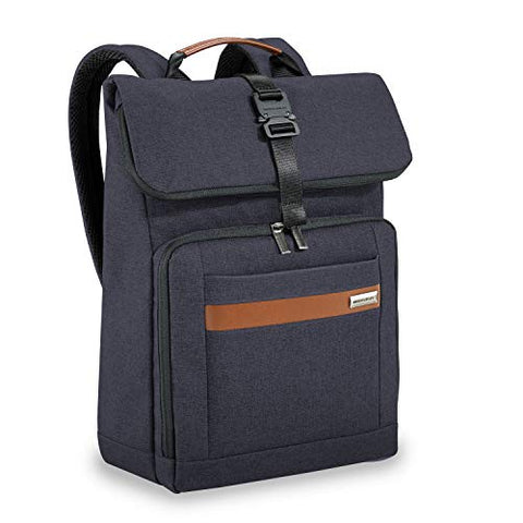 Briggs & Riley Kinzie Street Medium Foldover Backpack, Navy, One Size
