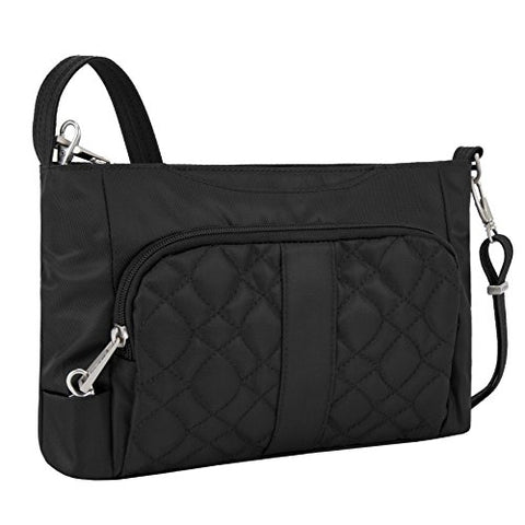 Travelon Anti-Theft Signature E/W Slim Shoulder Bag, Black