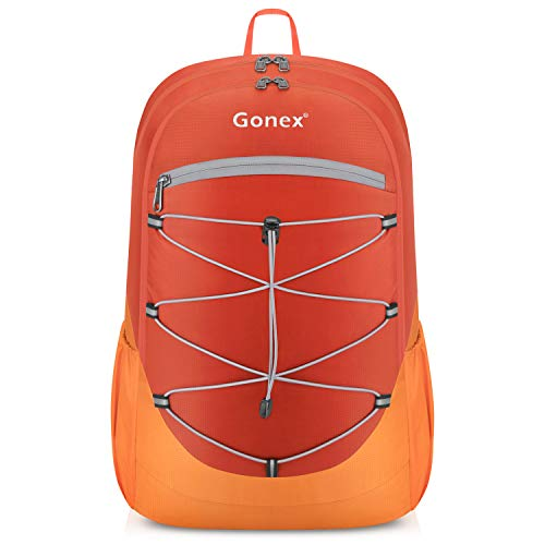 Gonex Ultralight Handy Travel Backpack, 25L Lightweight Packable Backpack Orange