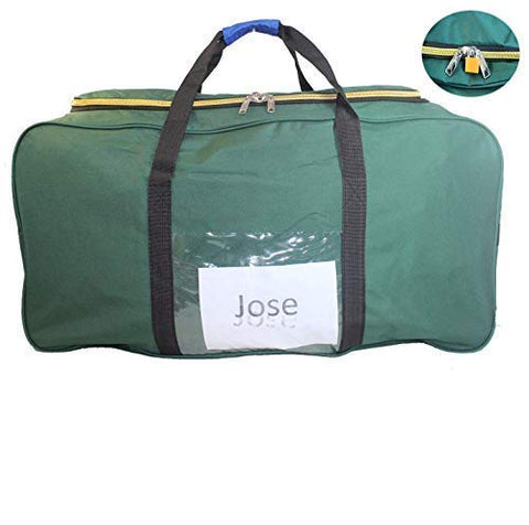 "Airlines Jose's Eco Cuban-Homecoming 50lb 62"" Duffel Bag + ID lock (Green) 2-Day-Shipping"