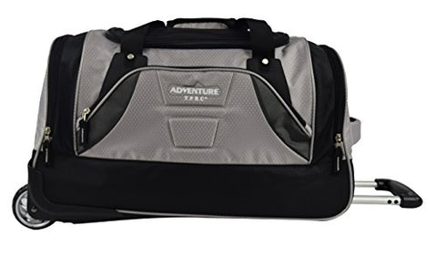 "TPRC 21"" ""Adventure"" Rolling Duffel Constructed with Honeycomb Designed RIP-STOP Material Includes Dual Side Pockets and Front Accessory Pocket, Gray Color Option"