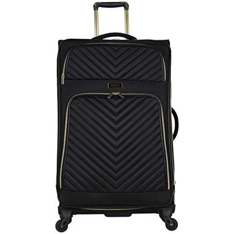 "Kenneth Cole Reaction Chelsea 28"" Polyester-Twill Expandable 4-Wheel Spinner Checked Luggage, Black"