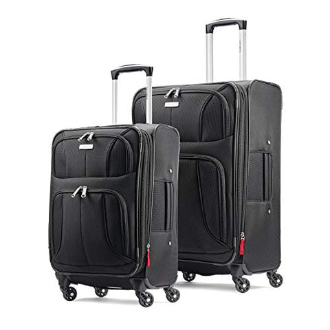 "Samsonite Aspire xLite Expandable Softside Set with Spinner Wheels, 2-Piece (20""/25""), Black"