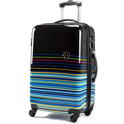 "Maui and Sons Stripes Expandable Hardside Spinner Luggage with TSA Lock (24"")"