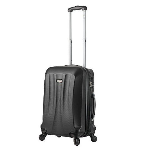 "Viaggi V1010L-22In-Blk Italy Siena Hardside Spinner 22"" Carry-On, Black"