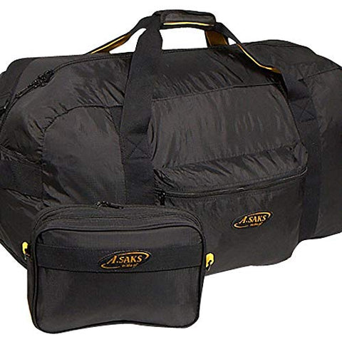 A.Saks 30in. Large Nylon Duffel with Pouch in Black