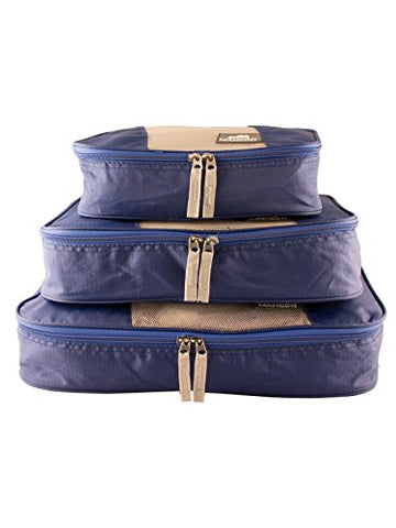 Mancini Leather Goods Pack'Em In Travel Packing Cubes (Blue)