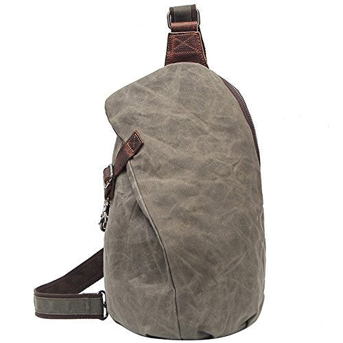 Unisex Sport Mountaineering Bucket Bag Canvas Backpack Travel Duffels Army Green