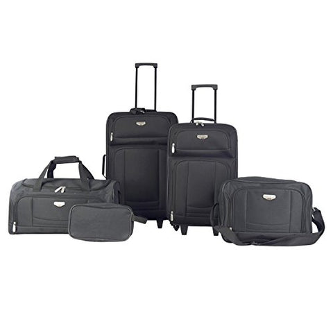 Traveler'S Club Luggage Tuscany 5-Piece Softside Value, Black Luggage Set One Size 2