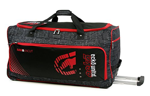 Ecko Unltd. 32 Inch Blacktop Rolling Duffel, Red/Black, One Size