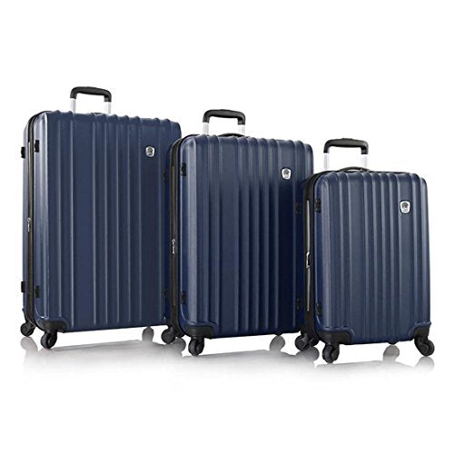 "Leo By Heys - Hx7 Lightweight Spinner Luggage 3Pc Set - 30"", 26"" & 21"" (Navy)"