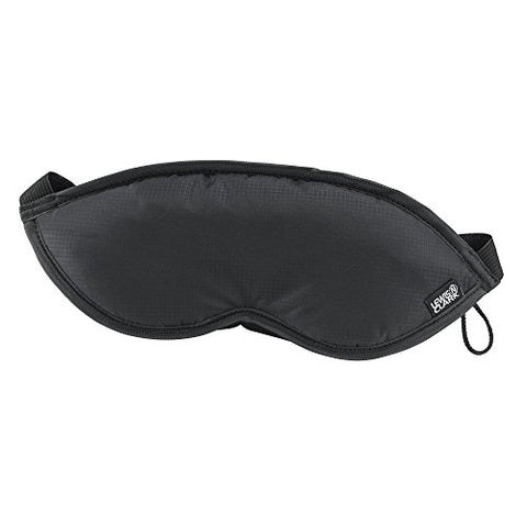 Lewis N. Clark Comfort Eye Mask With Adjustable Straps Blocks Out All Light, Black